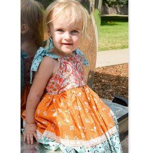 Exclusive Bella Bee Fall Tie Sleeve Dress